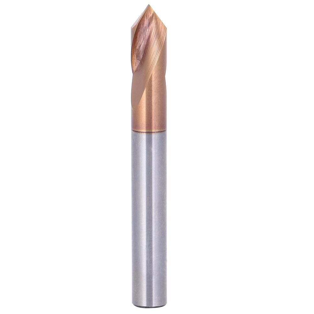 Spotting Drill Bit 90/° Multi-Purpose Tungsten Steel Spot Drill Chamfering Cutter Drilling Tool for Drilling Machine with Straight Shank 6 x 51mm