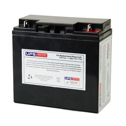 12V 18Ah NB AGM Battery replaces PC12180, 12GA18, PS18-12, PS17-12D, PT1712, PT1812, D1218, SLA17-12, ES18-12, PM18-12, S-12170, S-12180, FM12170B, UPS1217, SP12180, SH12-18-3, BAT12180, A212/15G by UPS Battery Center (Image #1)