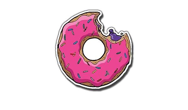 Simpsons - Donut, PVC adhesivo para monopatín Scooters teléfono ...