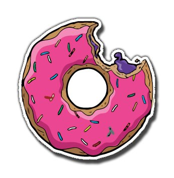 Simpsons Donut Funny adhesivos https://amzn.to/2HLrwj9