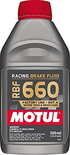 - Motul MTL101667 101667 RBF 660 Dot-4 100 Percent Synthetic Racing Brake Fluid-500, 500. ml