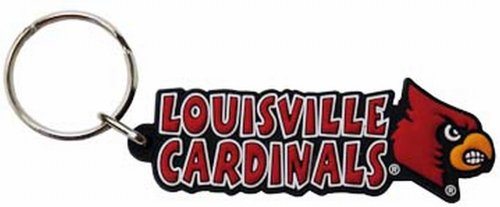 Game Day Outfitters NCAA Louisville Cardinals Festive PVC (Louisville Keychain)
