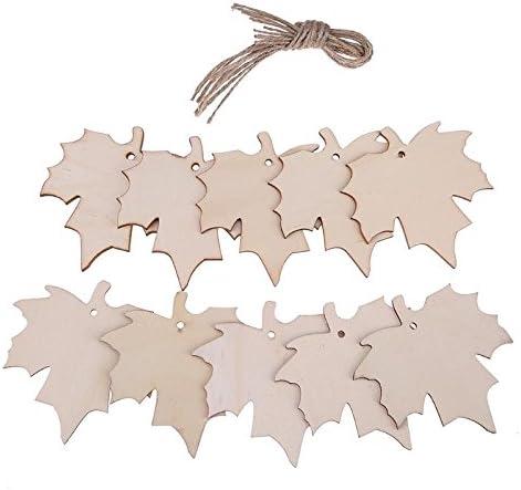 Amazon.com: Ornament Wood - 10pcs Hollow Maple Leaf Wood Ornament With Ropes Home Decor Diy Handmade Wedding Birthday Lable - Animals Cutout Slices Shape Craft Land Work