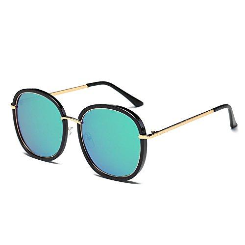 sol Negro gafas sol Green Mujer C4 UV polarizadas de Black gafas de azul tonos gafas G410 Cuadrado Flor Unidad C7 espejo señoras de Sunglasses Bastidor TL qaROfx