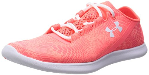 Under Armour Women's UA Speedform Studiolux After Burn/White/White Sneaker 8.5 B – Medium