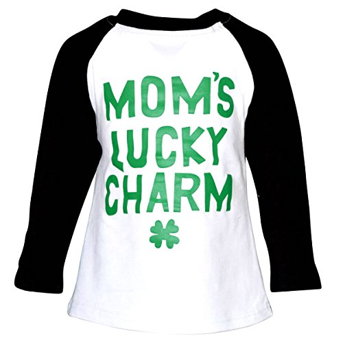 [Unique Baby Unisex ST Patrick's Day Moms Lucky Charm Shirt (4T/M, Green)] (Toddler Boy St Patricks Day Outfit)