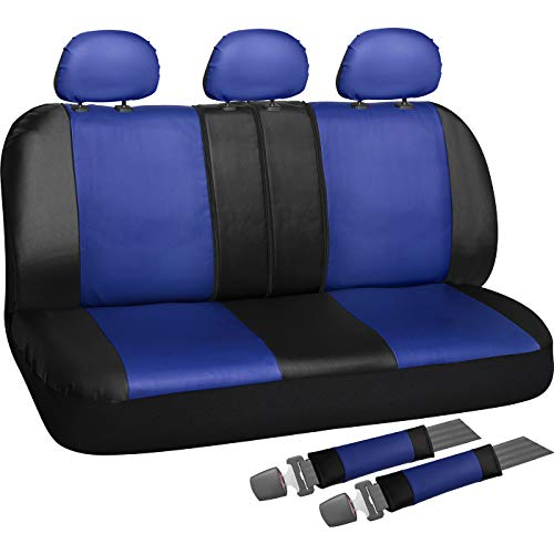 (OxGord Back Seat Cover - PU Leather Rear Bench Universal Fit Car, Truck, SUV, Van - 8 Piece)