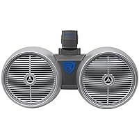 Rockville DWB80S Dual 8 Silver 800 Watt Marine Wakeboard Tower Speaker System