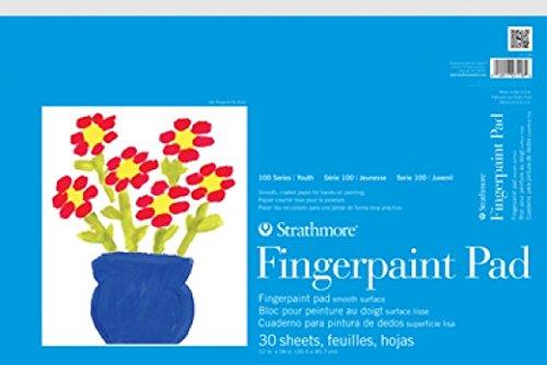 Strathmore (27-118 STR-27-118 30 Sheet Kids Finger-Paint Pad, 12 by 18