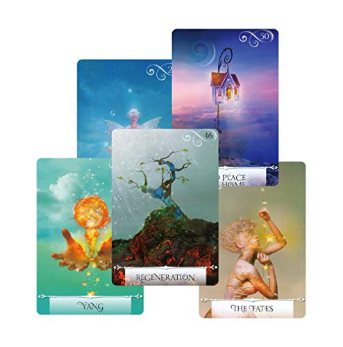 Autumn Water Newest Knowledge Oracle Cards 52 Wisdom Tarot Cards Guidance English Mysterious Fortune Card Game for Girls by Autumn Water (Image #1)