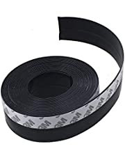 Door Seal Strip 5M Length, Weather Stripping for Doors and Windows Door Draft Stopper Frameless Adhesive Soundproof Under Door Seal,Black