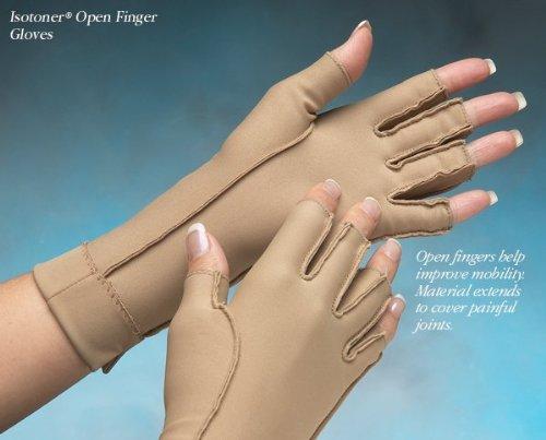 North Coast Medical Isotoner Open Finger Gloves, Size: X-...