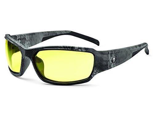 - Ergodyne Skullerz Thor Safety Glasses - Kryptek Typhon Black Camo Frame, Yellow Lens