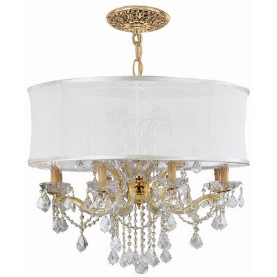 Gd Cls Crystorama Lighting (Brentwood 12 Light Chandelier Crystal Type / Shade: Clear Swarovski Strass / Antique White)