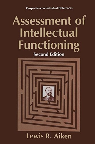 Assessment of Intellectual Functioning (Perspectives on Individual Differences)