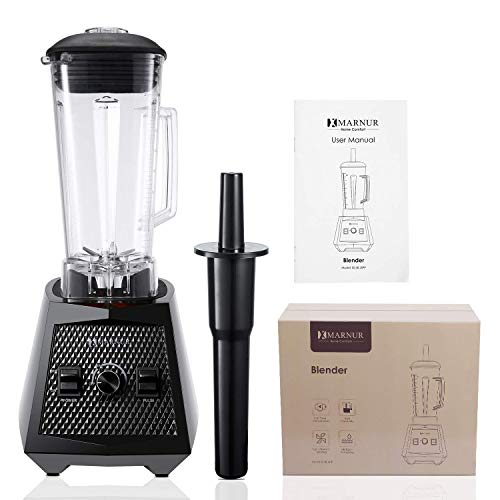Smoothie Blenders, 1500W Smoothie Maker, 2L Commercial Blender, High Speed Jug Blender Machine 28000 RPM, Mufti-Function Ice Blender with Stepless Speed Adjustment, 8 Sharp Blades