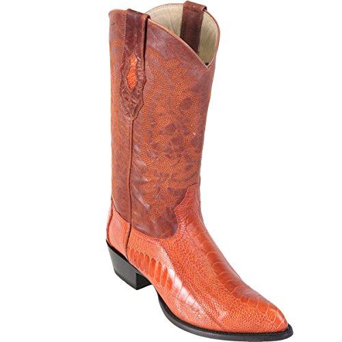 (Original Cognac Ostrich Leg LeatherJ-Toe Boot)
