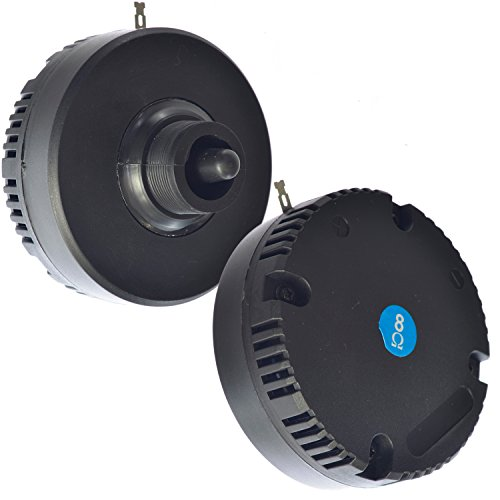 Mid Bass Loudspeaker Driver - Y-DJ Horn Driver Piezo Tweeter Speaker for use in Music Sound Pro Audio PA Loudspeakers, 100 Watts 8 Ohms 4