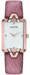 Valentino Women's V36SBQ5002SS111 Gemme Rectangular Rose-gold Case Pink Leather Watch