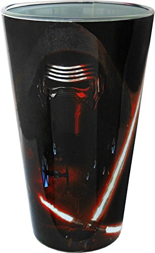 Silver Buffalo SE04031P Star Wars Episode 7 Kylo Ren Pint Glass, 16-Ounces