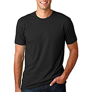 Next Level Mens Premium Fitted Short-Sleeve Crew T-Shirt - X-Small - Black