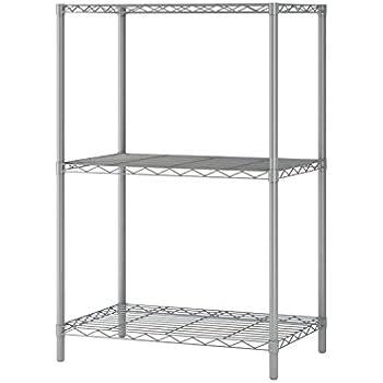 Amazon.com: Homebi Wire Shelving Unit 3 Shelf Metal Storage Rack ...