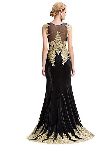 Ever Pretty, Grace Karin Quissmoda Vestido Fiesta Largo Boda, Color Negro, Rojo, Azul, Blanco, Talla 50: Amazon.es: Ropa y accesorios