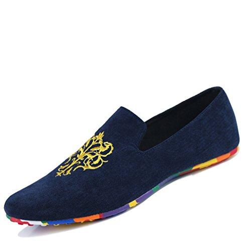 los de Mocasines Loafers cómodos tamaño hombres de tamaño gran los de Zapatos hombres mocasines Zapatos de de Blue gran On Slip de de Velvet Zapatos conducción terciopelo suaves 7HzqpRwS