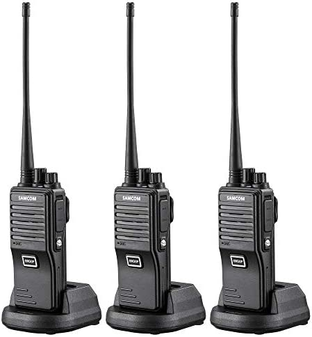 SAMCOM FPEN10A 20 Channels 2 Way Radio with Group Function, UHF Long Range Handheld Walkie Talkie 2 Watts 3 Packs,Black