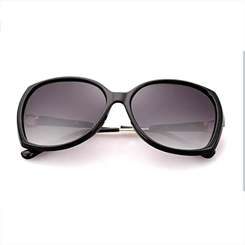 de Europa caja black viajes sol los cómoda UVA polarizadas al decoración Estados Resin libre Bright pequeña y sol gafas retro UV personalidad Unidos Drive Color femeninas aire de Gafas black UVB WLHW Bright AqzR4UYz