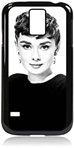 Audrey Hepburn-Black and White- Hard Black Plastic Snap - On Case with Soft Black Rubber LiningGalaxy s5 i9600 - Great Quality! by lolosakes