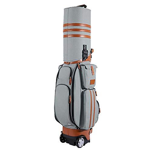 Convenient Golf Travel Bag Waterproof PU Golf Multi-Function Bag Aviation Bag with Wheels, Password Lock for Men Women Durable (Color : C4, Size : 12520cm)