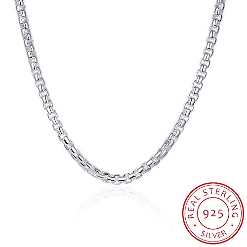 GYXYZB Fine Jewelry Necklace 6Mm 20 '' 50 cm 925 Sterling Silver Necklace Cool Chain