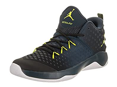 sale retailer 61f86 c8cc7 Image Unavailable. Image not available for. Color  Jordan Men s Extra.Fly  Basketball Shoe Black Electrolime-Armory Navy-White 11