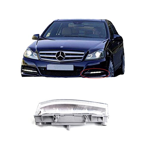 Vakabva 2049068900 LED Daytime Running Lamp Fog Light for Mercedes Benz W204 W212 C250 C300 (Left Side)