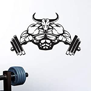 zaosan Gym Sticker Barbell Bull Fitness Calcomanías Body-Building ...