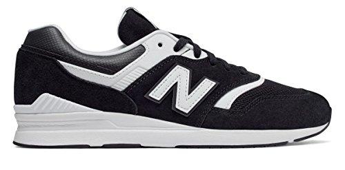 拮抗する従順(ニューバランス) New Balance 靴?シューズ レディースライフスタイル Leather 697 Black with White ブラック ホワイト US 7.5 (24.5cm)