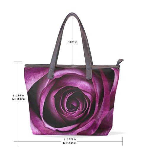 COOSUN Damen Rose Pu Leder Große Einkaufstasche Griff Umhängetasche