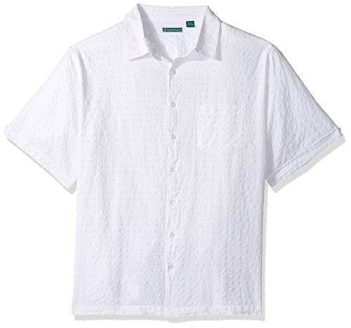 Cubavera Men's Big and Tall Short-Sleeve Seersucker, Bright White, (Seersucker Big Shirt)