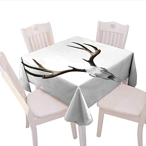 Raymond Square Print (Home-textile-print Antlers Decor Square Tablecloth A Deer Skull Skeleton Head Bone Halloween Weathered Hunter Collection Square Wrinkle Resistant Tablecloth 70x70 (inch))