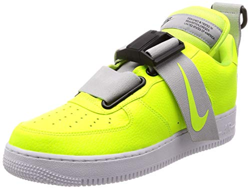 Nike Unisex Air Force 1 Utility Sneakers (9 D(M) US/10.5 B(M) US, Volt/White/Black)