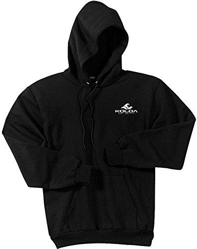 Koloa Classic 2 Side Wave Logo Hoodies-Hooded Sweatshirt-Black-XL