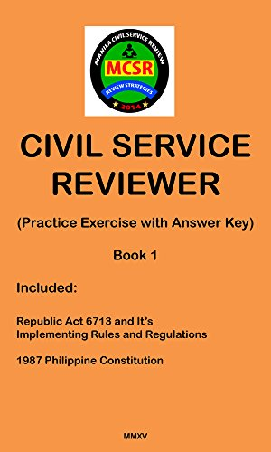 Civil Service Reviewer: (Practice Exercise with Answer Key) (Manila Civil Service Reviewer Book 1)