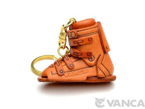 Skistiefel Leder Schlüsselanhänger VANCA CRAFT Sports KH-Sammelfigur Schlüsselanhänger, Made in Japan