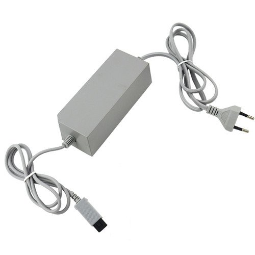 OSTENT EU Type AC Wall Adapter Power Supply Replacement Compatible for Nintendo Wii Console Video Game