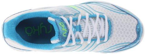 Ryka Dynamic la capacitación de la mujer zapatos White/Met/Ocean Blue/Electric Lime