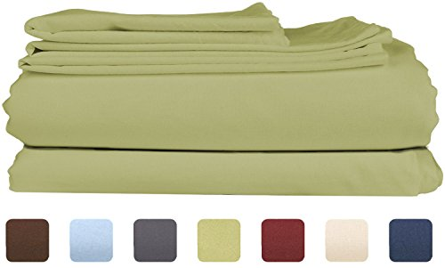 Queen Size Sheet Set - 4 Piece Set - Hotel Luxury Bed Sheets - Extra Soft - Deep Pockets - Easy Fit - Breathable & Cooling - Wrinkle Free - Comfy – Sage Green Bed Sheets - Queens Sheets – 4 PC (Sheet Small Sage)