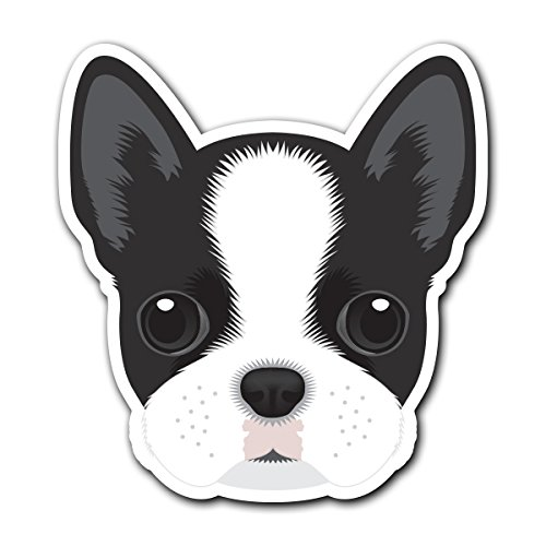 Boston Terrier - [CUSTOMI] Dog Breed Decal Sticker for Car Truck Macbook Laptop Air Pro ()