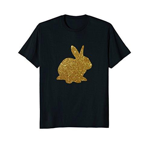 Gold Rabbit (Easter Bunny Rabbit Shirt Happy Funny Faux Gold Foil T-Shirt)