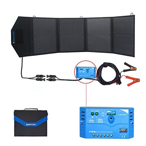 ACOPOWER 12V 50 Watt Foldable Solar Panel Kit; Portable S...
